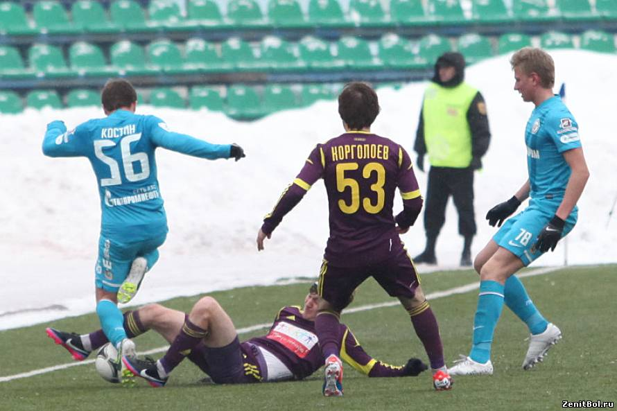 Match of the 44th round of the championship of russia, sogaz anji - zenit